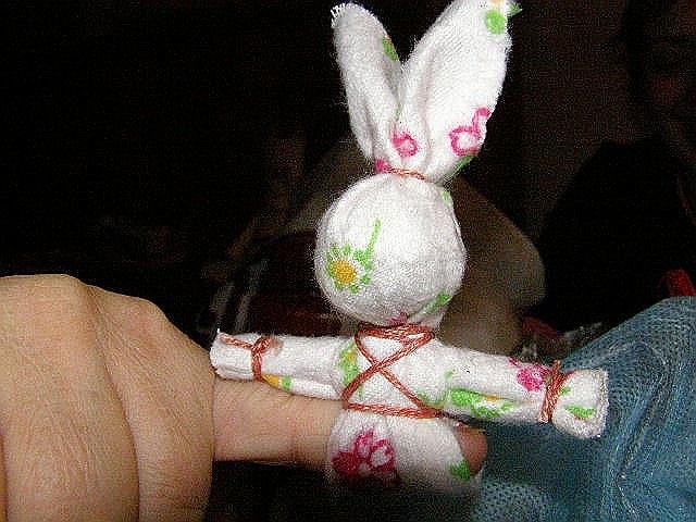 Как сделать куклу заяц на палец - Раум Профи