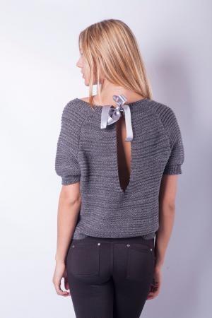 Пуловер С Открытой Спиной