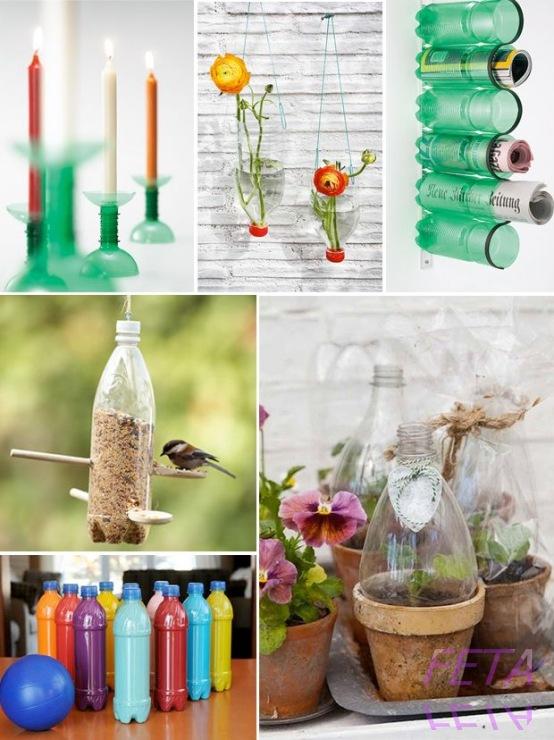Вторая жизнь пластиковым бутылкам своими руками