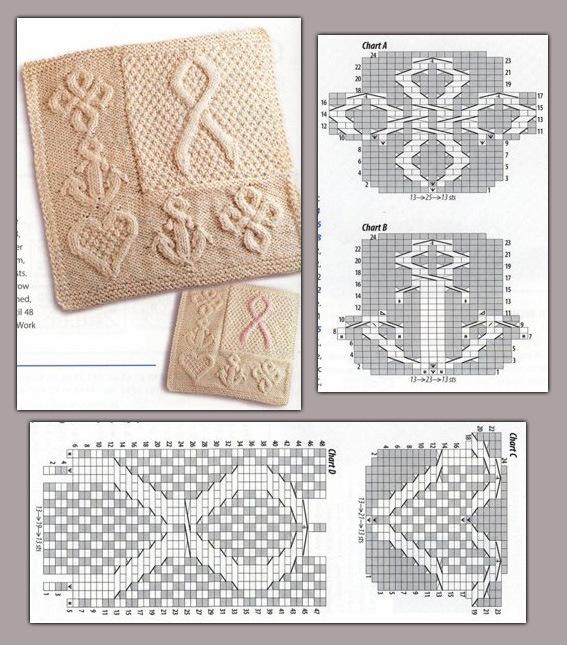 оригинальные схемы узоров вязания крючком