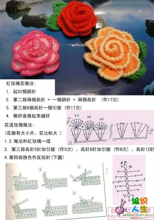 Вязание роз крючком мастер класс