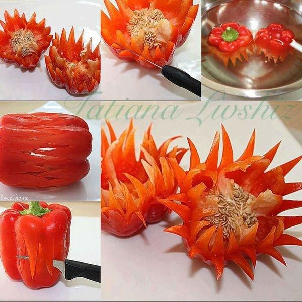Как вырезать на овощах своими руками