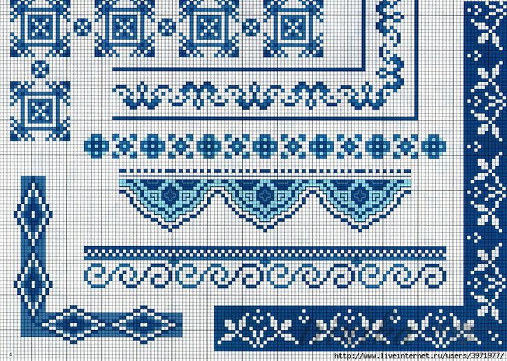 Схемы бордюров для вышивки 527