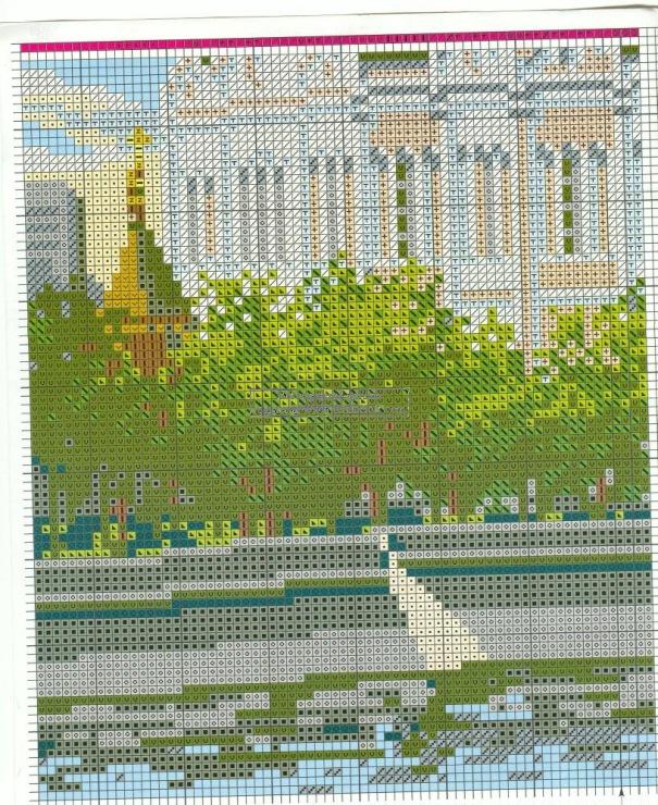 Вышивка риолис храм христа спасителя 7