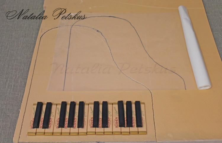 Как сделать рояль из бумаги на