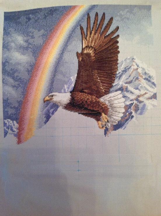 белоголовый орлан, набор для вышивания крестом, kustom krafts inc, интернет-магазин, купить, москва, россия