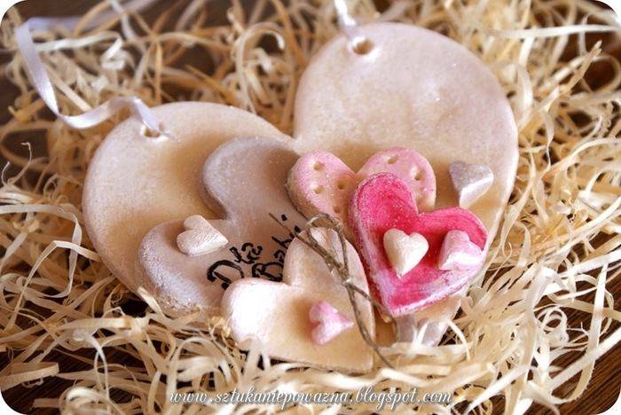 Валентинка своими руками из соленого теста
