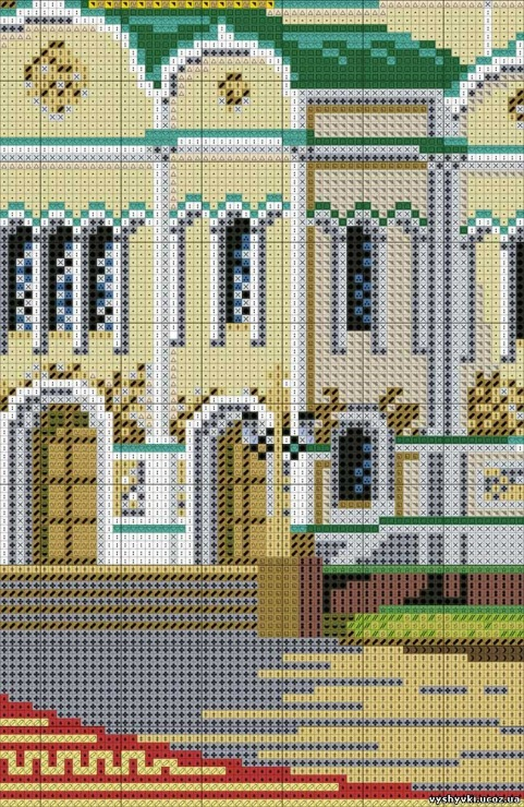 Вышивка риолис храм христа спасителя 39
