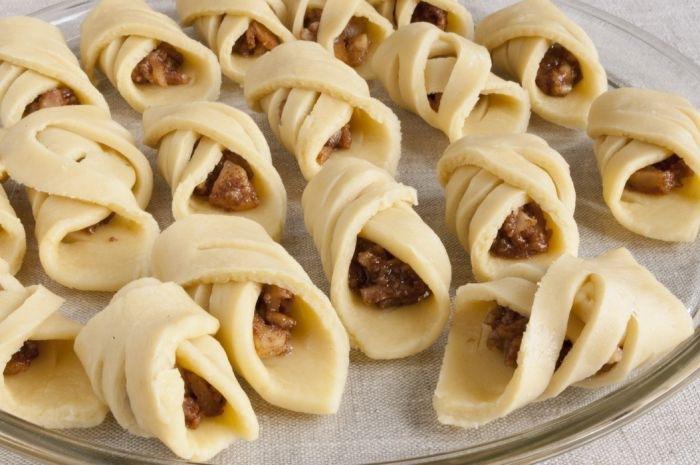 Ажурное печенье с яблоками рецепт пошагово