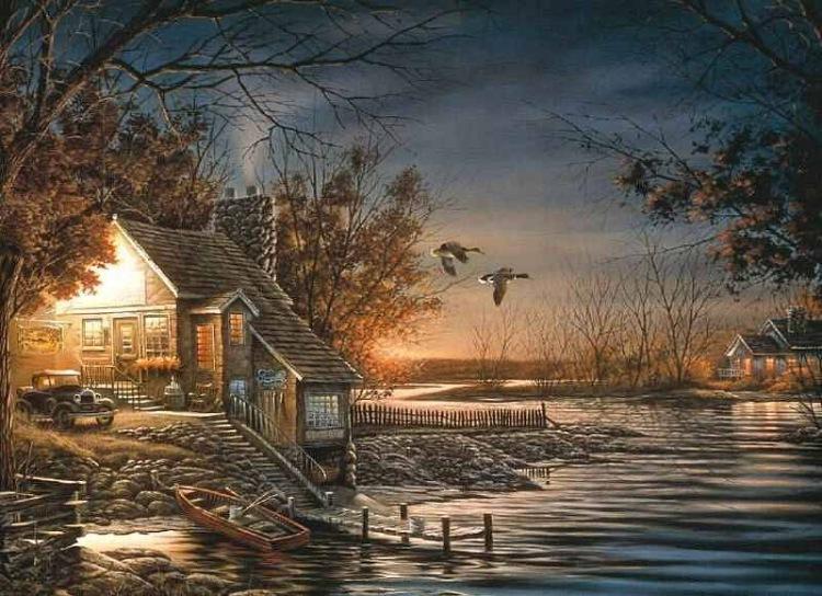 домики у озера месяц над домами стихи объявлений