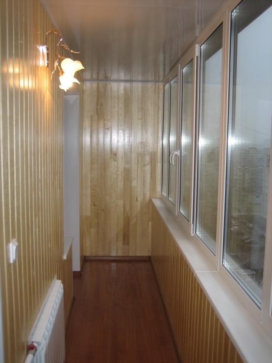 Обшивка балкона и лоджии вагонкой своими руками.