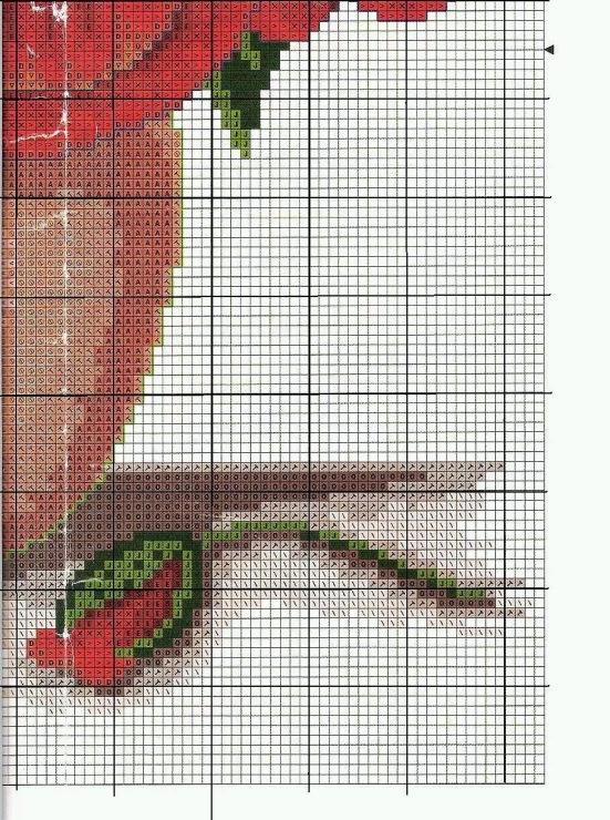 Схема вышивки мак в вазе