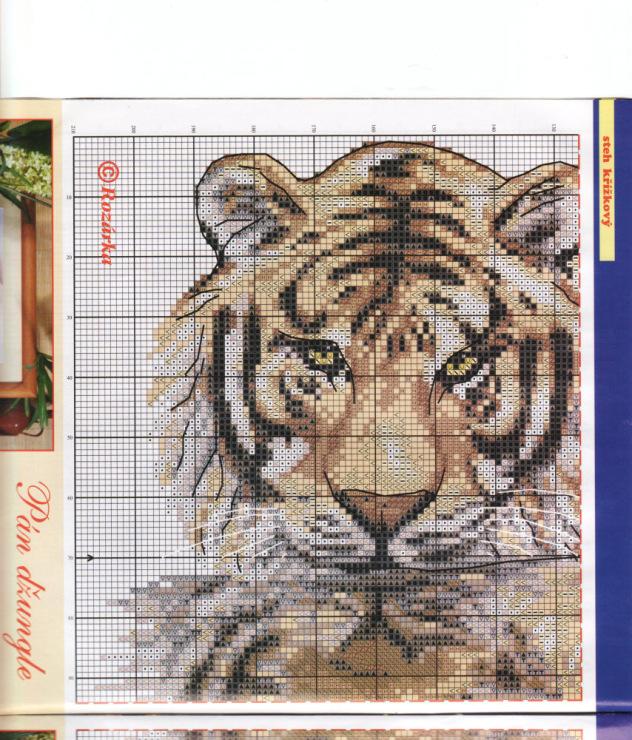 Вышивка крестом тигра схемы 82